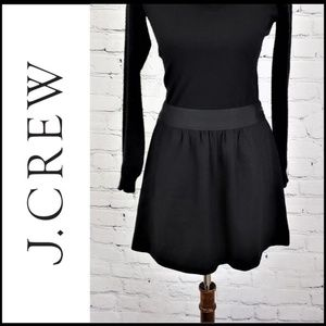 J.CREW RECYCLED WOOL Blend Black A-Line Skirt, 4